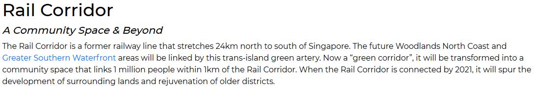 Avenue South Residence - URA master plan Silat Rail Corridor