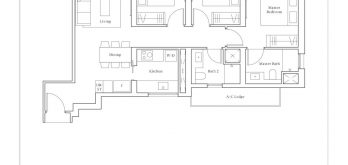 avenue-south-residence-peak-3-bedroom-C1-947sf