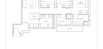 avenue-south-residence-peak-3-bedroom-C1-PH-1120sf
